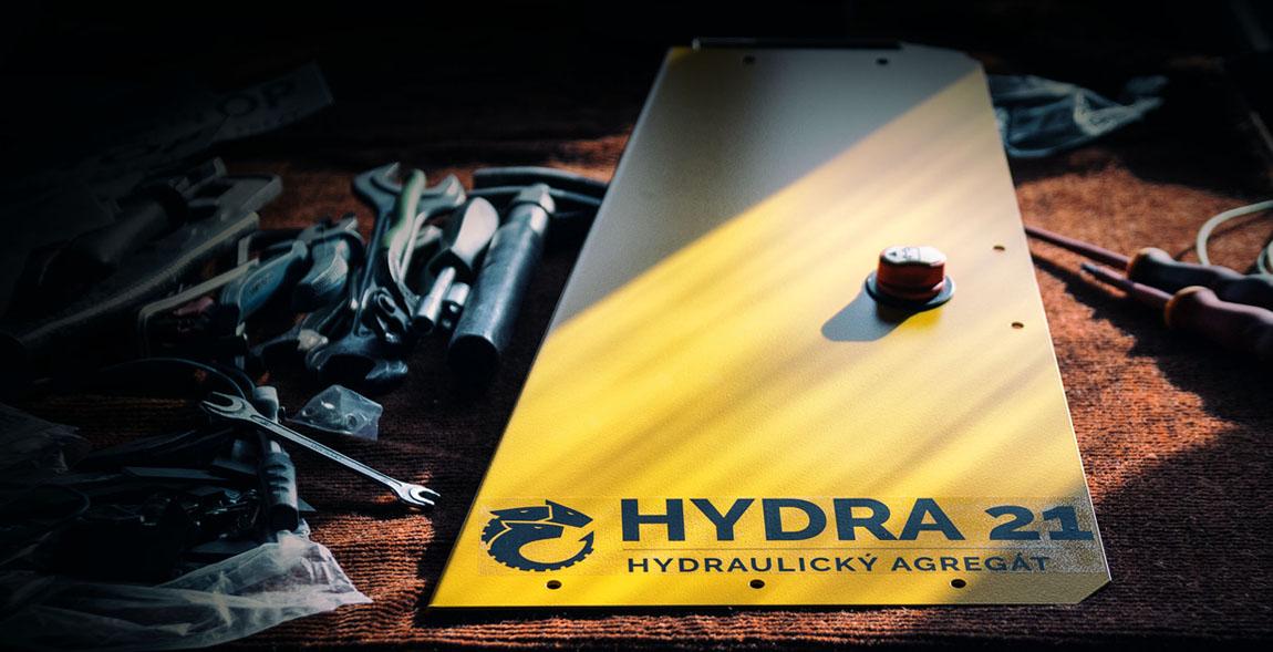 První fotografie části hydraulického agregátu HYDRY 21