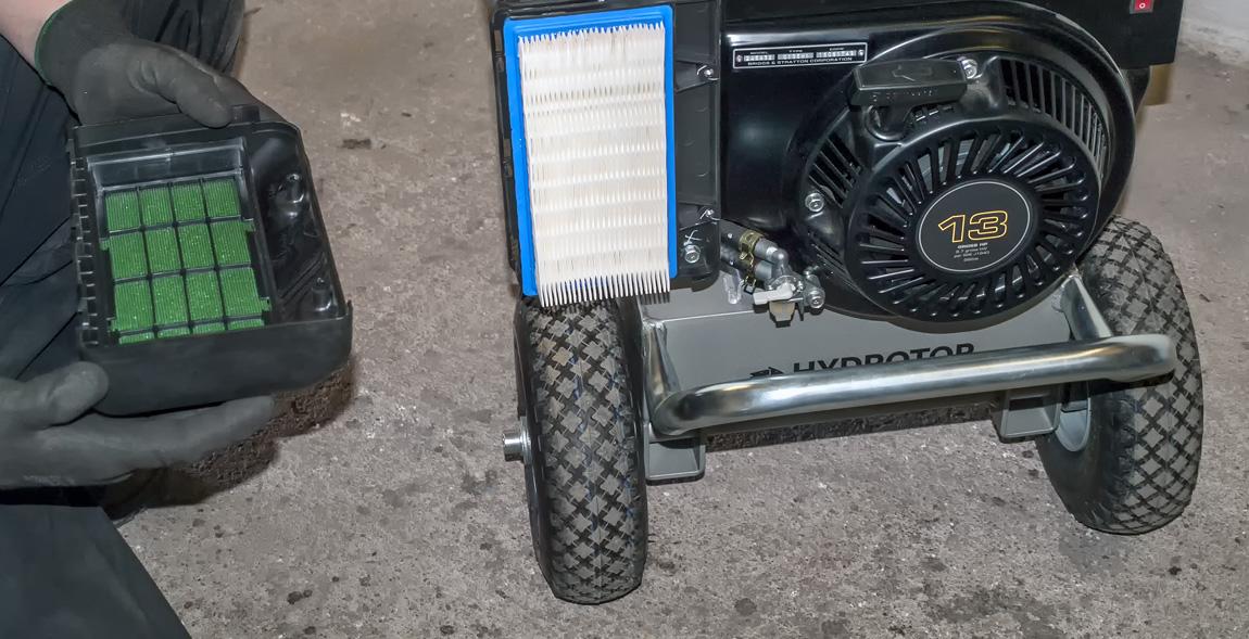 Hydraulický agregát vzduchový filtr servis
