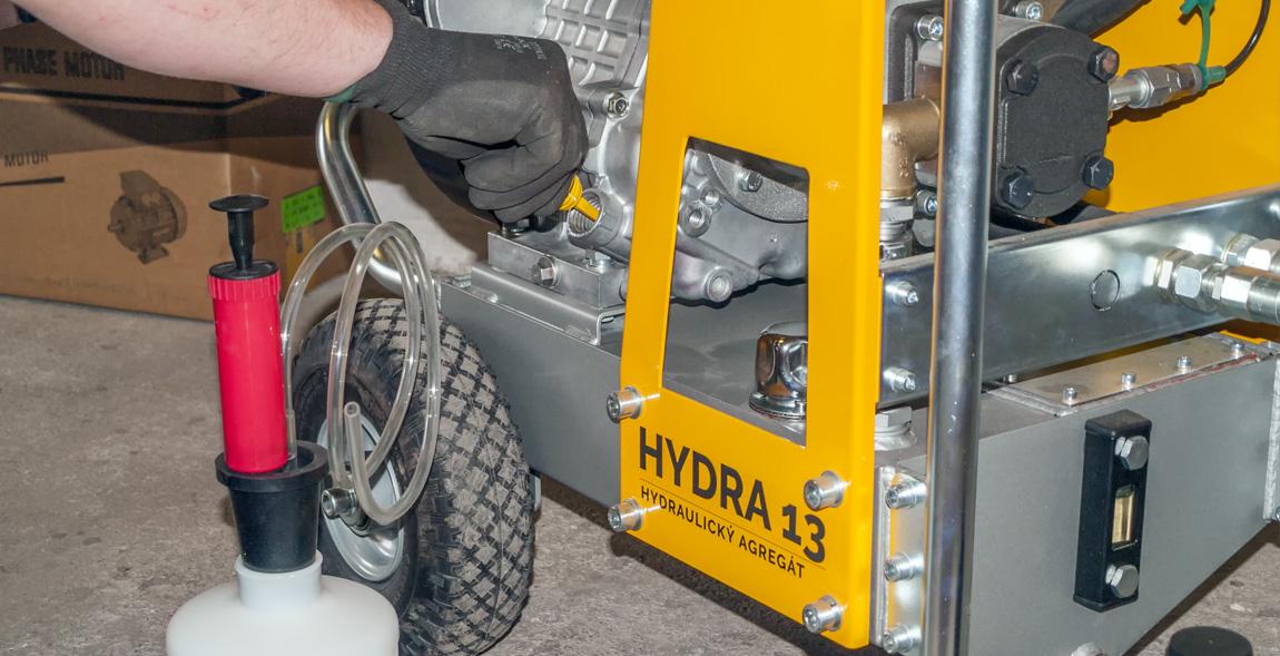 Hydraulický agregát výměna oleje