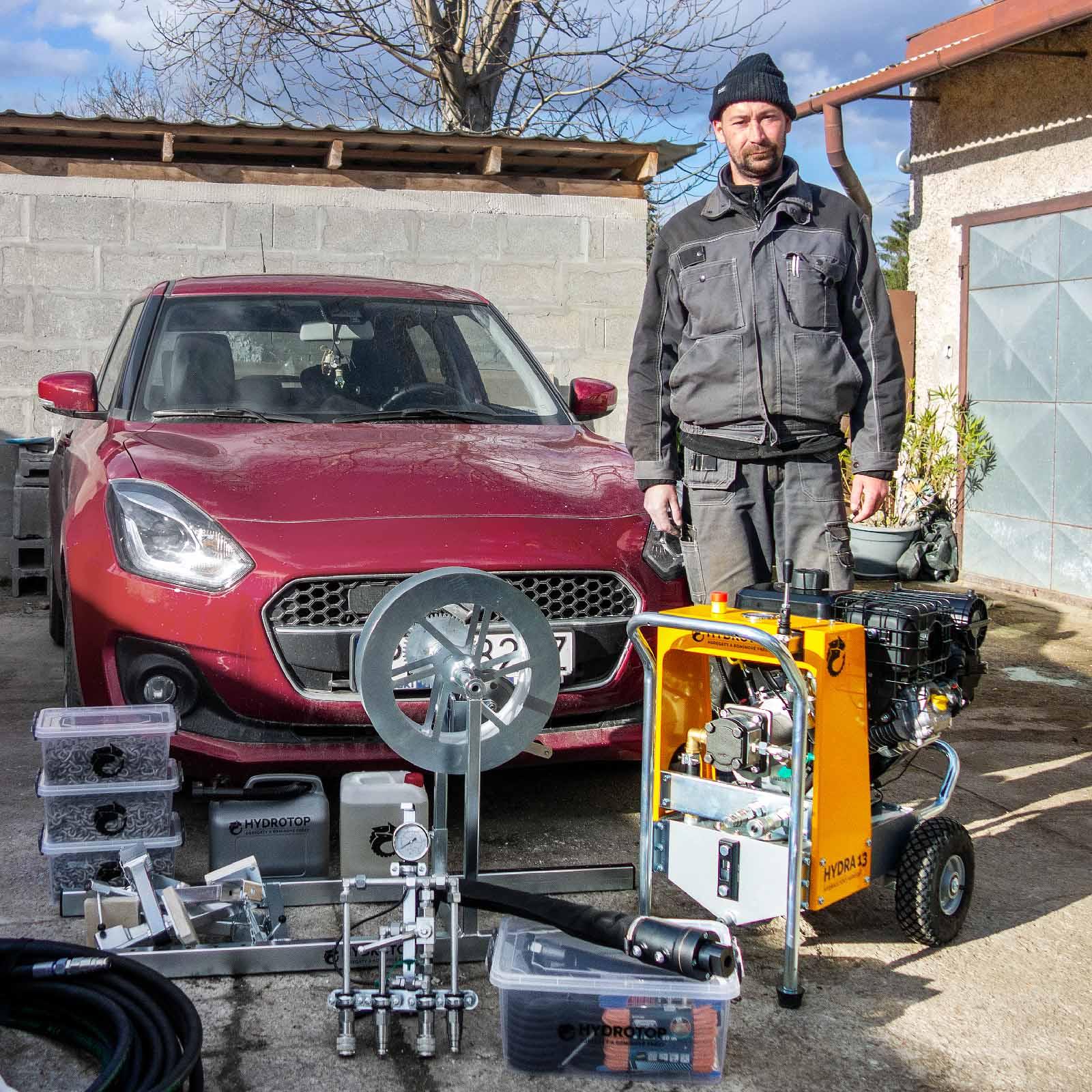 Peter Žilka z Komivy je pán HYDRY a může frézovat komíny na Slovensku