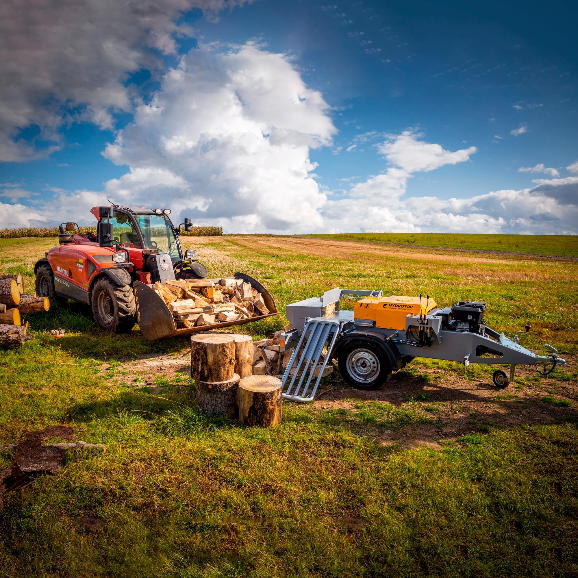 Štípačka na dřevo – HYDRA 23 s benzinovým motorem (připojení za auto)